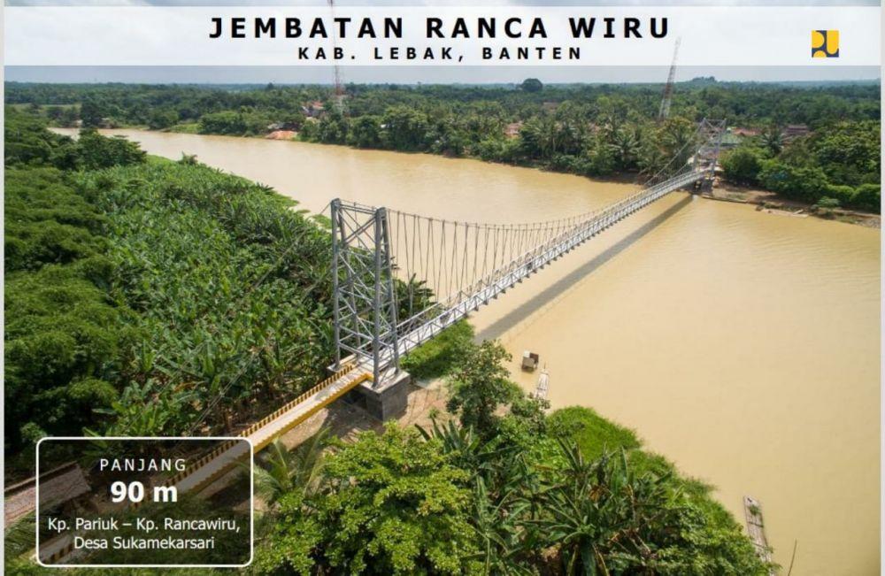 Kementerian PUPR Bangun 148 Jembatan Gantung di Tahun 2020