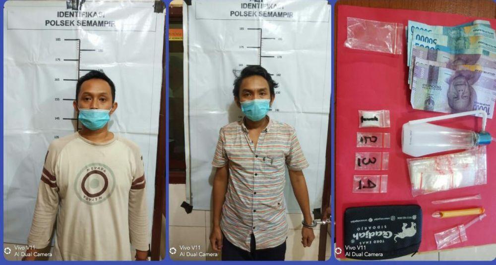 Polisi Tangkap Dua Pria Pengedar Sabu Sabu di Surabaya