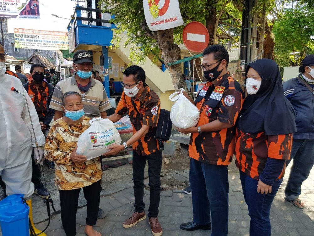 Pelepasan Relawan Task Force Covid-19 MPC Pemuda Pancasila Surabaya