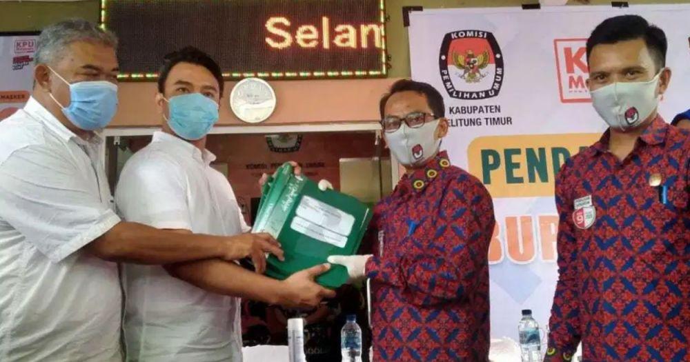 Tujuh Partai Koalisi Kawal  Yuri-Anca Daftar Ke KPU Belitung Timur
