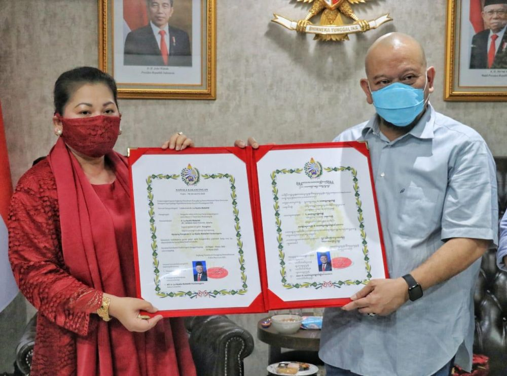 Pelestari Keris Pusaka, LaNyalla dapat gelar dari Keraton Surakarta