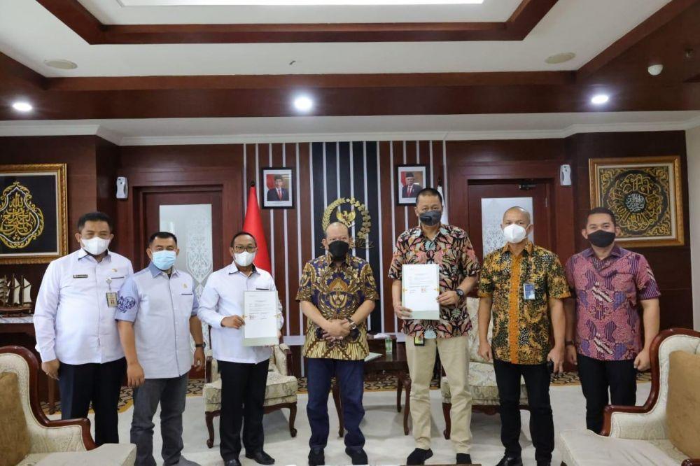 Ketua DPD RI Meyambut Baik MoU DPD RI Dengan PT. Garuda Indonesia