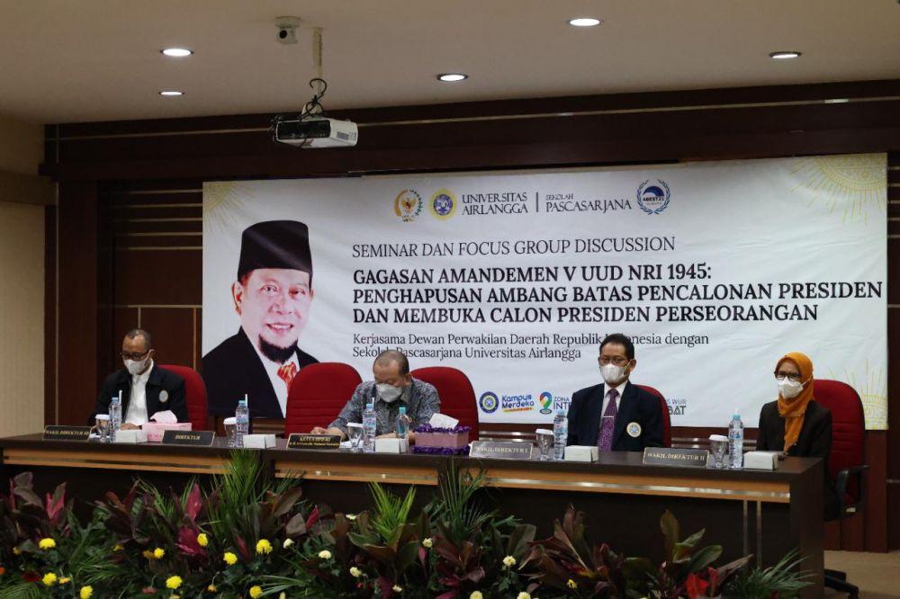 Ketua DPD RI: Undang-Undang Pemilu adalah Desain Besar Oligarki