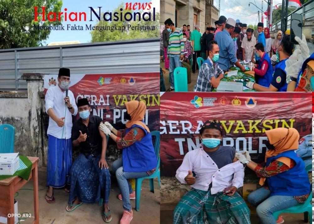 Masyarakat Desa Bira Timur Sambut Vaksinasi Tahap Pertama