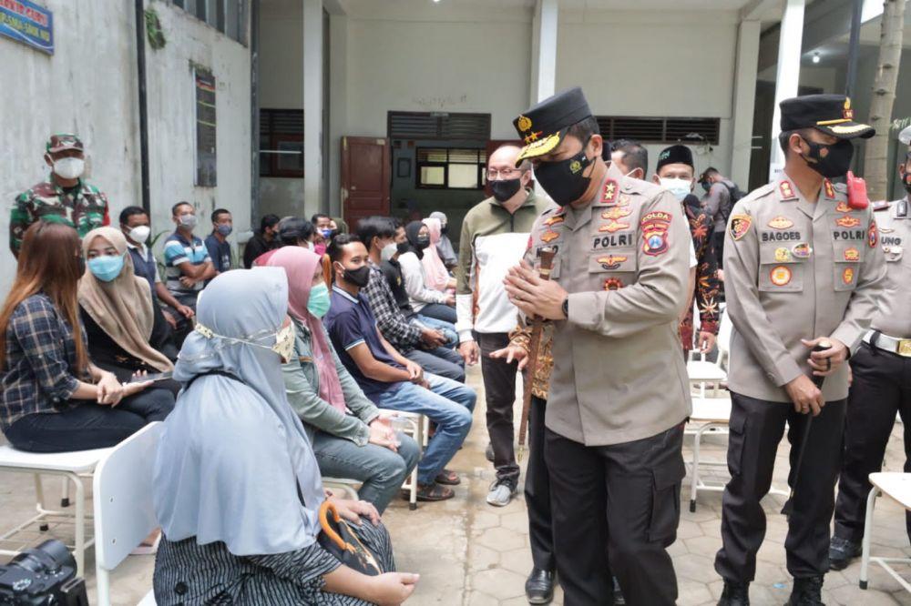 Kapolda Jatim Cek Pelaksanaan Vaksinasi di NUIS Pakis Kabupaten Malang