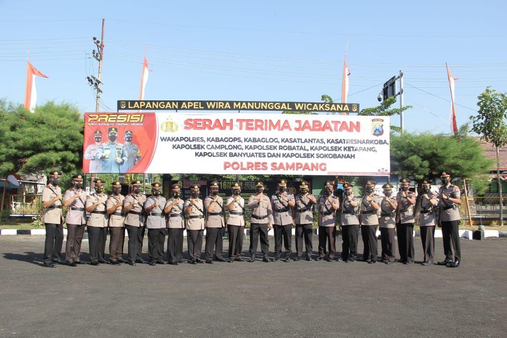 AKBP Abdul Hafidz S.IK, M.Si Pimpin Sertijab Jajaran Polres Sampang