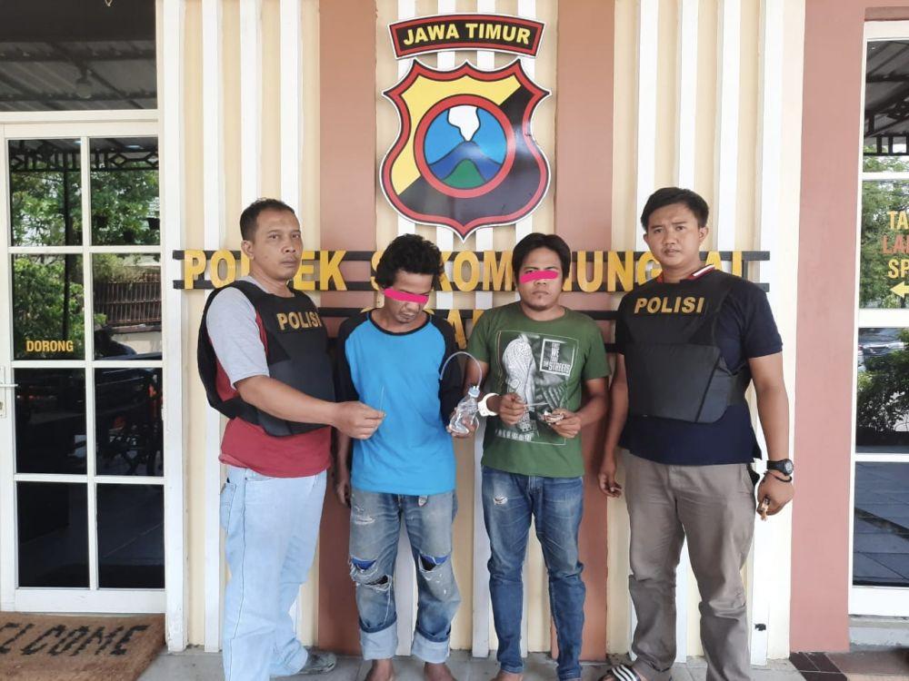 Asik Nyabu, Dua Pria Surabaya Diamankan Polisi