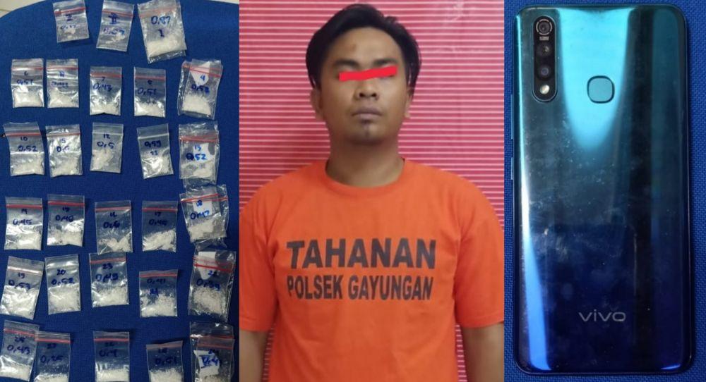 Terlibat Mengedarkan Sabu, Pria Berprofesi Satpam Ditangkap Polisi