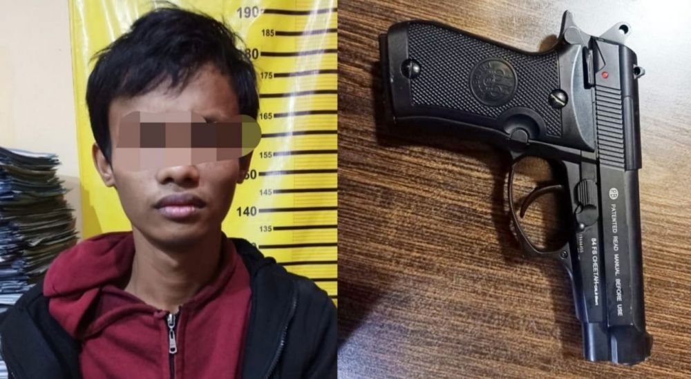 Rampok Bersenjata Pistol Ditangkap Polsek Tambaksari Surabaya