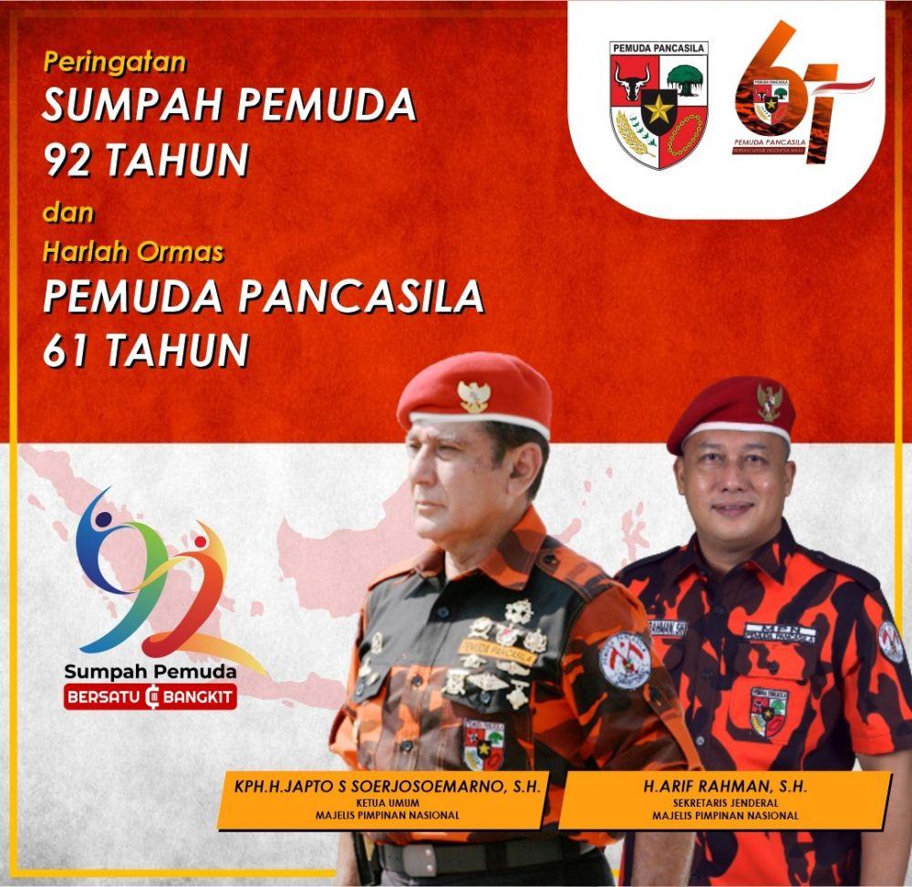 Sekjen Pemuda Pancasila Ajak Pemuda Indonesia Bersatu Dan Bangkit