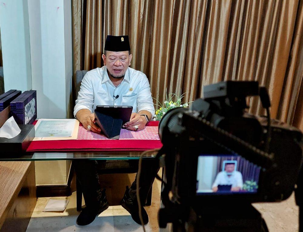 Hadir Virtual di Haul Bani Shiddiq, Ketua DPD RI Kutip Doa Gus Mik