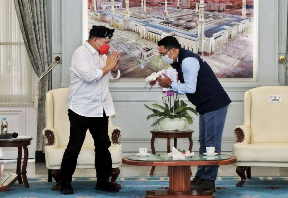 Gubernur Jawa Barat Ridwan Kamil Bertemu Dengan LaNyalla Ketua DPD RI
