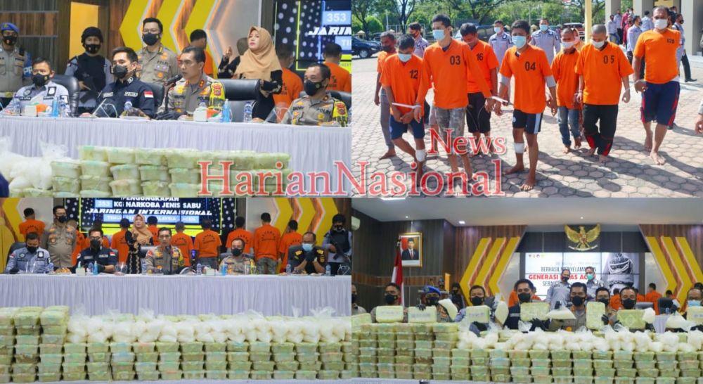 Polda Aceh Ungkap Narkotika Jaringan Internasional Seberat 353 Kg