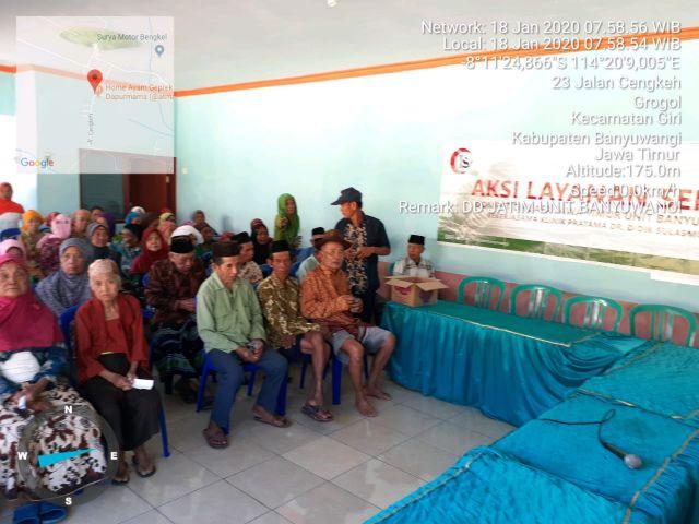 Aksi Layanan Sehat Sasar Ratusan Lansia Di Desa Grogol Banyuwangi