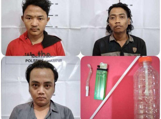 Polsi Amankan Tiga Pemuda Saat Asik Pesta Sabu Di Dalam Kamar