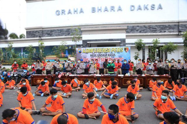 Sebanyak 494 Kasus Dengan 381 Tersangka Diungkap Polrestabes Surabaya
