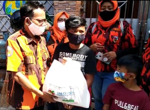 Relawan Task Force Kemanusiaan MPC PP Surabaya Kembali Adakan Baksos