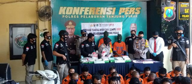 Polres Pelabuhan Tanjung Perak Surabaya Ungkap 36 Kasus Narkoba