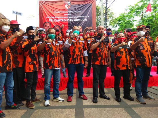 Pemuda Pancasila Surabaya Satu Komando Dukung  Eri - Armuji