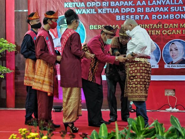 Ketua DPD RI LaNyalla dapat gelar Tetue Bebuyutan Rambang Kuang Sumsel