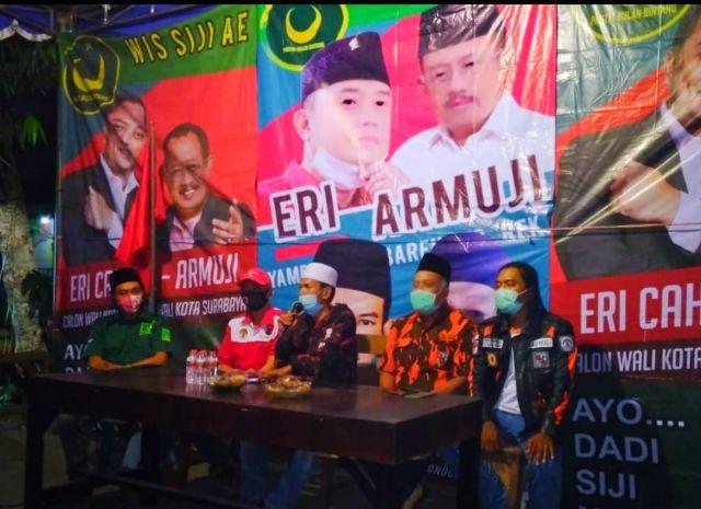 Pemantapan Relawan Pengamanan Suara ErJi Di Kecamatan Wonocolo