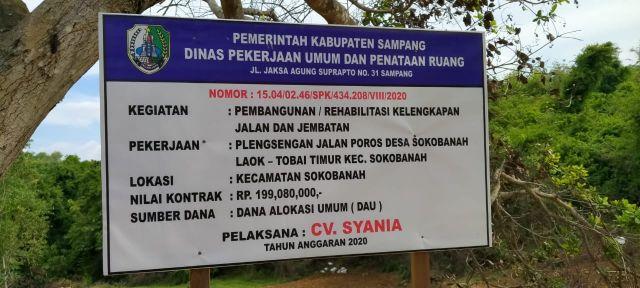 Warga Pertanyakan Proyek Plengsengan Poros Desa Sokobanah Laok - Toba