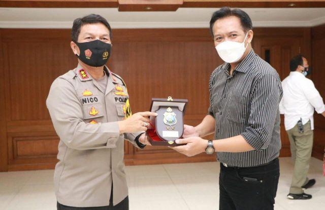 Kapolda Jatim Sambut Audiensi Asosiasi Media Siber Indonesia (AMSI)