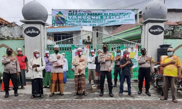 Kompol Aryanto Agus Wujudkan Program Gerakan Santri Bermasker