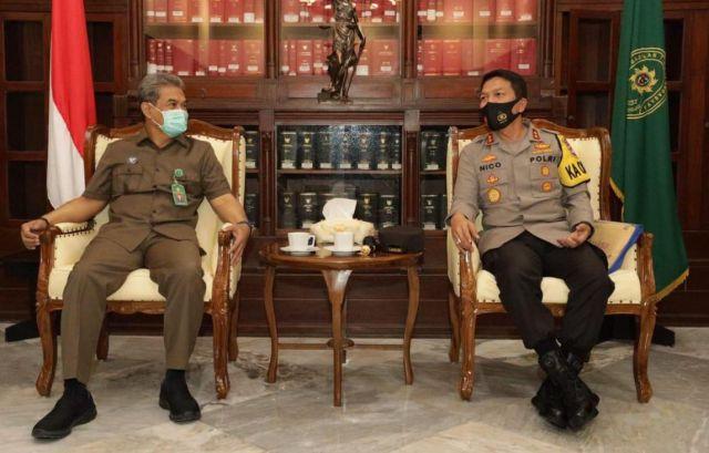 Kapolda Jatim dan Ketua Pengadilan Tinggi Surabaya Berkolaborasi
