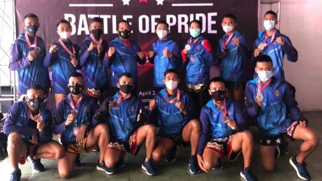 Atlet Kick Boxing Menart 2 Mar Pasmar 2 Sabet Medali di Karanganyar