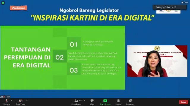 DPR Nilai Partisipasi Perempuan di Era Digital Sangat Penting