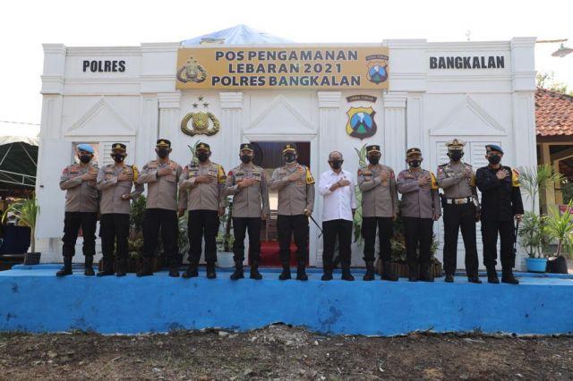 Pos Pengamanan Lebaran 2021 di Bangkalan Madura Siagakan 118 Personil
