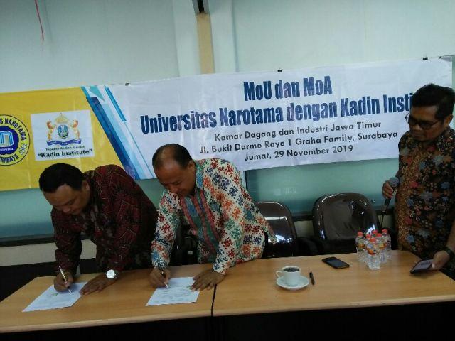 MoU dan MoA Antara Kadin Institute dengan UNNAR untuk Terapkan APRC