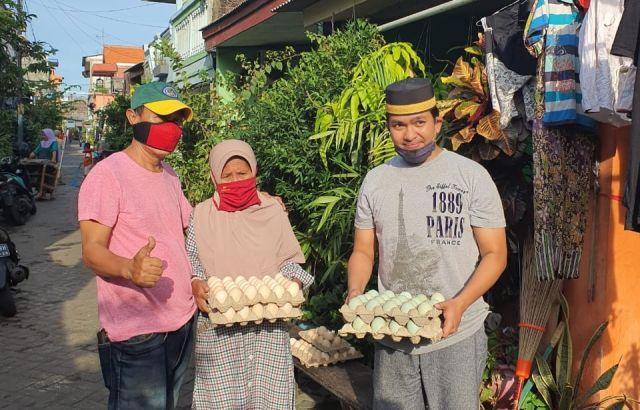 Dampak Covid-19, BPD KKSS Kota Surabaya, Bagikan Ratusan Sembako