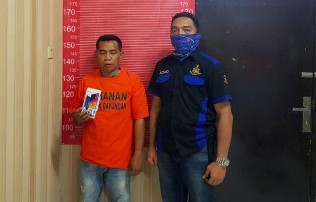 Polsek Gayungan Tangkap Pria Asal Tambak Asri Surabaya