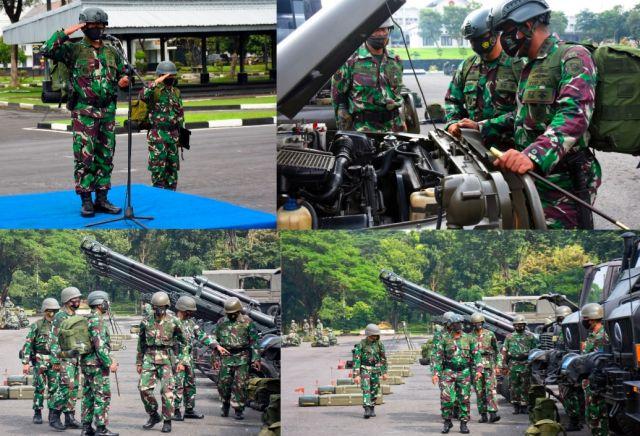 Komandan Resimen Artileri 2 Marinir Pasmar 2 Pimpin Apel Organik