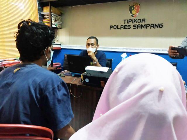 Polres Sampang Ringkus Pasutri Pelaku Pencurian di Kantor PT. WJS