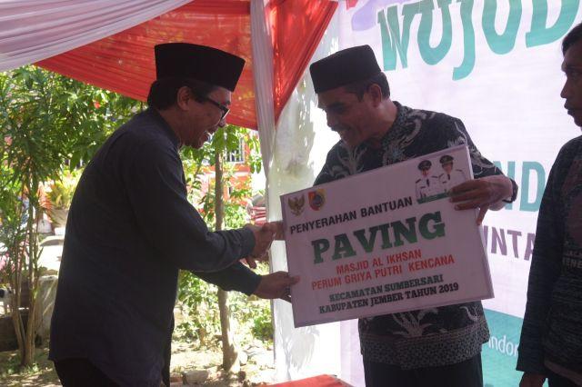 Wakil Bupati Jember Bagikan KIS di Kelurahan Kebonsari