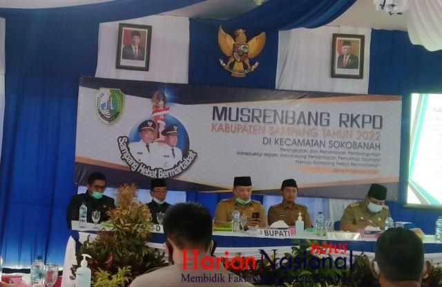 Anggota DPRD, Dedi Dores, SH Dukung Kegiatan Musrenbangcam Sokobanah