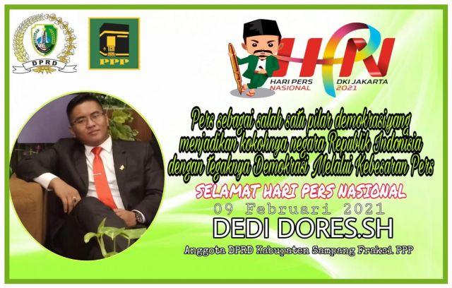 Anggota DPRD Kabupaten sampang  Ucapkan selamat hari pers nasional