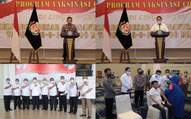 Sebanyak 2.282 Purnawirawan Polri Laksanakan Vaksinasi Covid-19